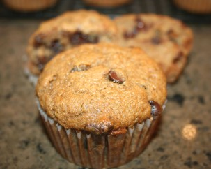 Chocolate chip banana muffin