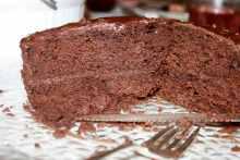 Sliced Devil's Food Cake