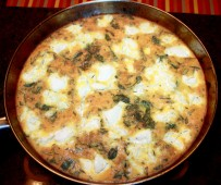 Onion and Goat Cheese Frittata