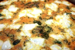 Close up of the Onion and Goat Cheese Frittata
