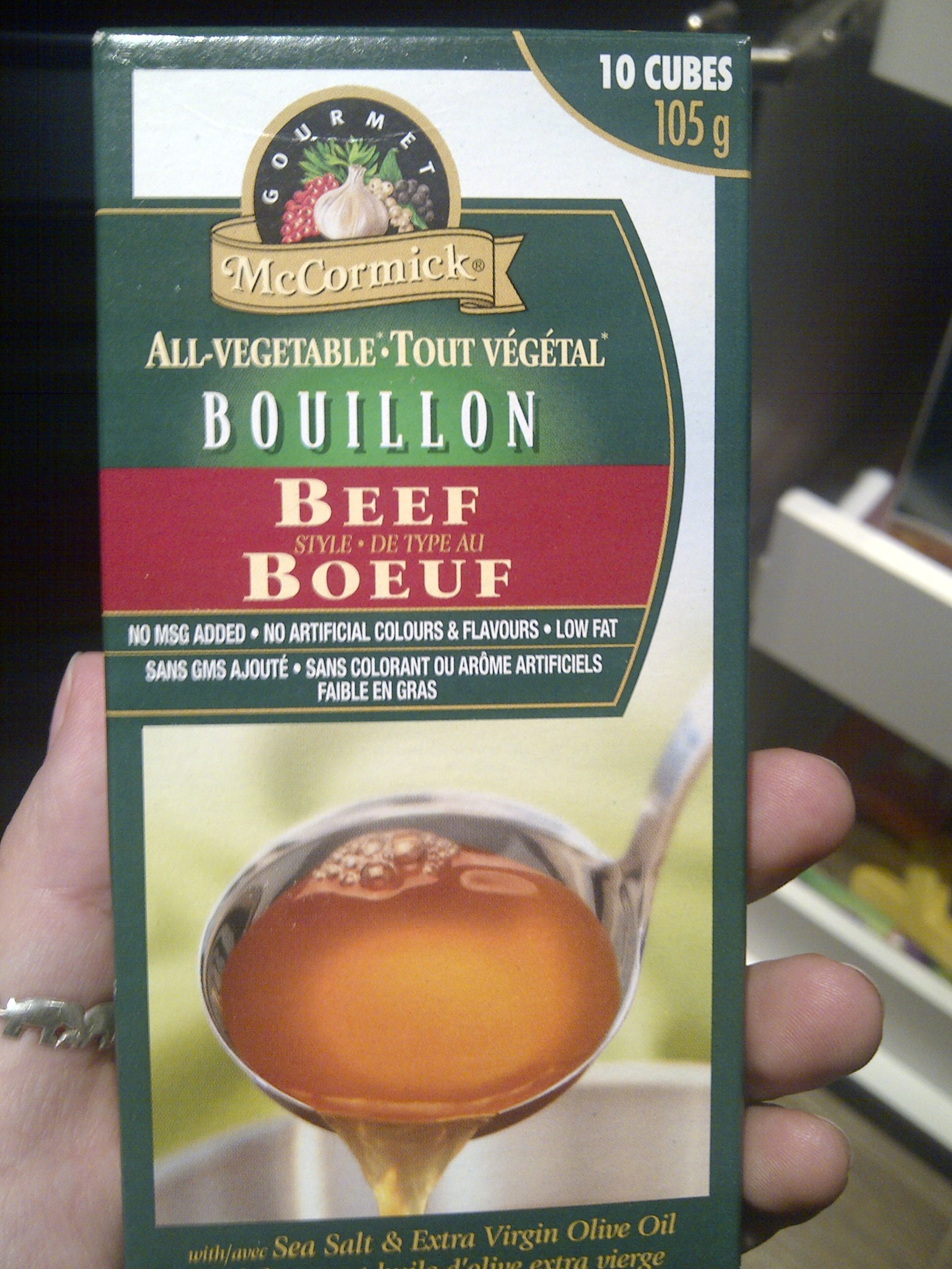 To bump up the flavour, you can do 3 beef stocks/beef bouillon ...
