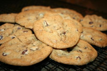 More Chocolate Toffee Cookies
