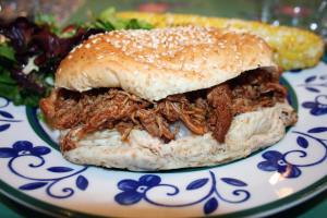The Perfect Pulled Chicken Sandwich