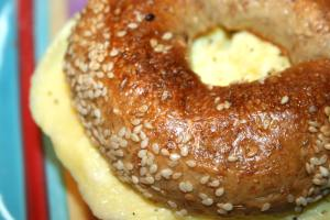 Quick and Easy Breakfast Sandwich close up