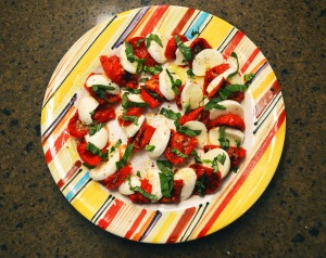 Roasted Tomato Caprese Salad from above