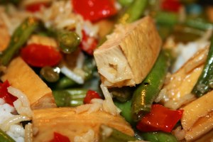 Close up of Tofu Stir Fry