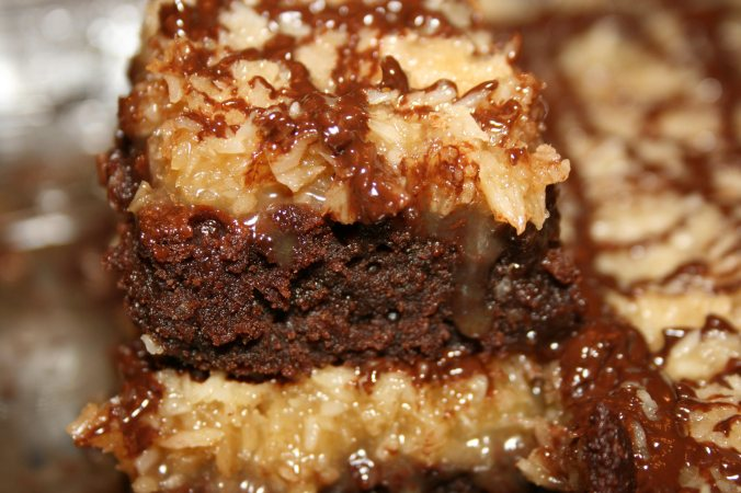 Coconut Caramel Brownies