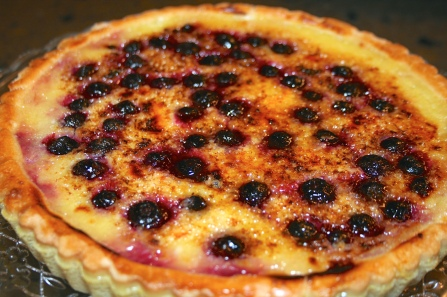 Blueberry Lemon Brûlée Tart