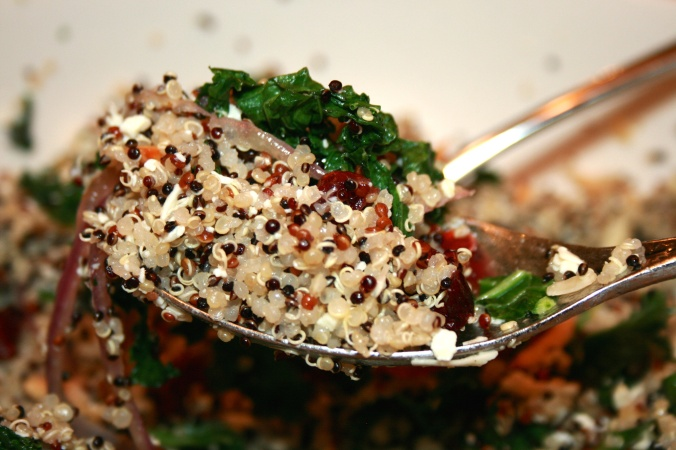 Quinoa Salad with Kale & Feta