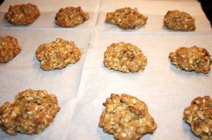 Banana Oatmeal Nut Cookies