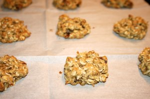 Banana Oatmeal Nut Cookies