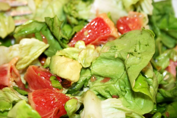 Avocado, Grapefruit & Pistachio Salad